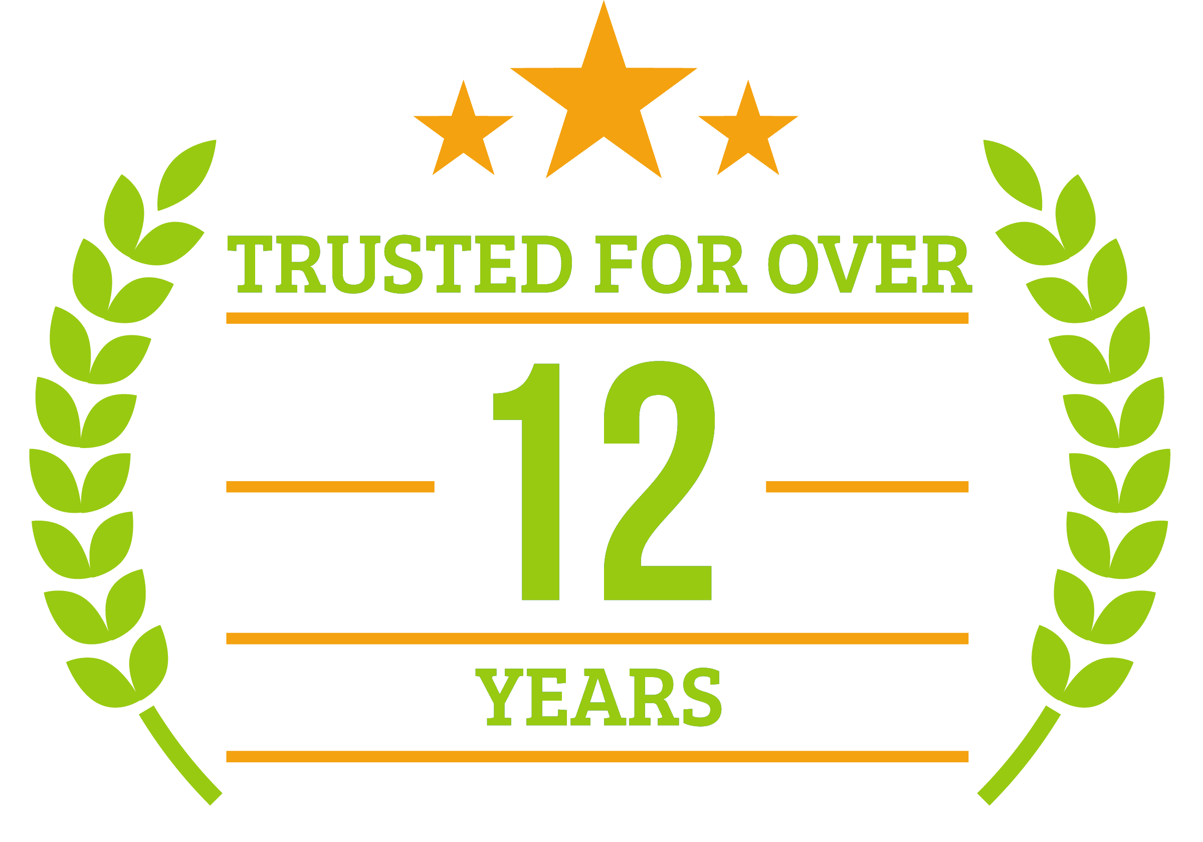 12 Years of Trusted Service badge